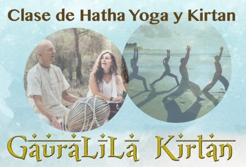 Clase de hatha yoga y kirtan
